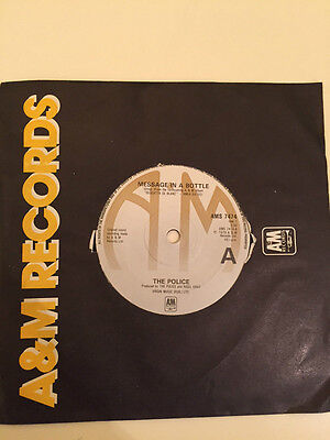 """The Police - Message in a Bottle A&M Cover 7"""" Vinyl UK"""