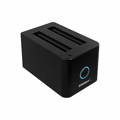"Sabrent USB 3.0 to 2.5"" SSD / HDD SATA Dual Bay External HDD Docking Station SYD"
