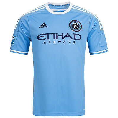 New York City FC MLS Mens Adidas MLB Home 2016 Football Shirt Jersey Blue M