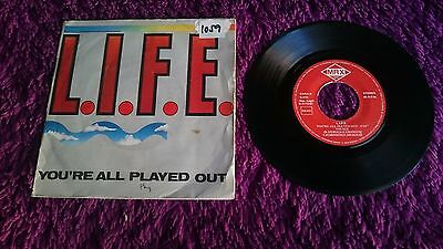 "L.I.F.E. ‎– You're All Played Out ,  Vinyl, 7"", 1987 , Spain , S-216"
