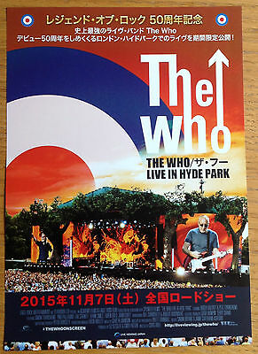 The WHO 'Live In Hyde Park' Japan Flyer