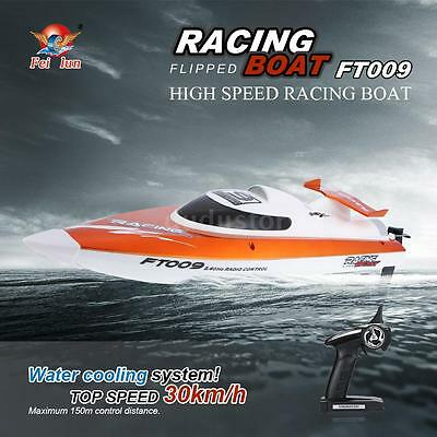 100% FEI LUN FT009 RC Boat 2.4G 4CH Water Cooling 30km/h Speed Racing Barco S4L1