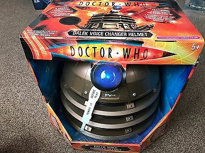 Doctor Who Dalek Gold Voice Changing Helmet New Very Rare