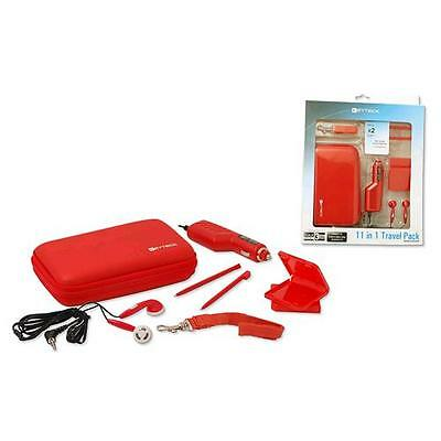 11 in 1 travel pack compatibile nintendo 3ds ds ds lite rosso