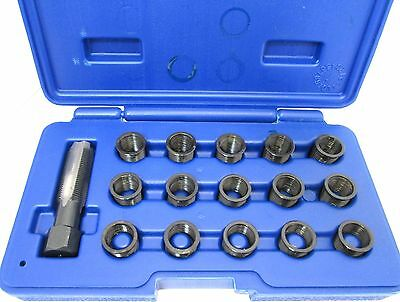 16pc Spark Plug Thread Repair Kit M14 x 1.25 HSS Tap Vorlux by Bergen 5841