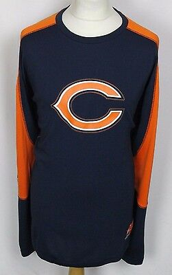 Chicago Bears American Football T-Shirt Long Sleeved Nfl Mens Xl