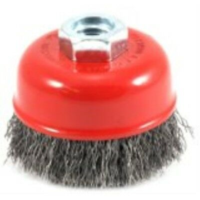 Forney 72755 Wire Cup Brush, Coarse Crimped with 5/8-Inch-11 Threaded Arbor, 2-3