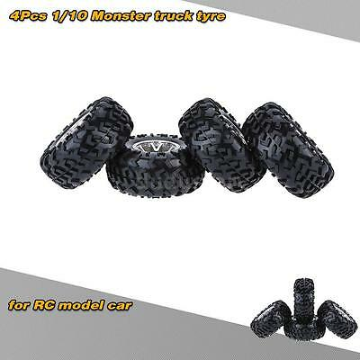 4Pcs/Set 1/10 Monster Truck Tire Tyres for Traxxas HSP RC Model Car T5M2