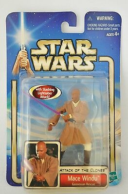 STAR WARS ,ATTACK OF THE CLONES collectors figure MACE WINDU