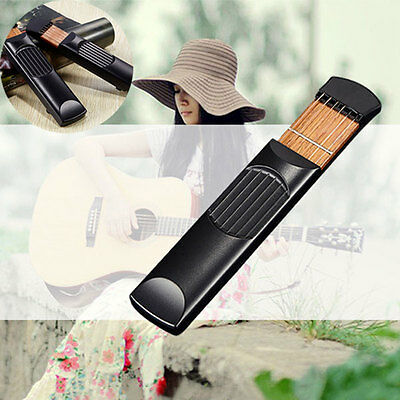 Pocket Acoustic Mini Guitar Practice Tool Gadget Chord Trainer 6 String Model