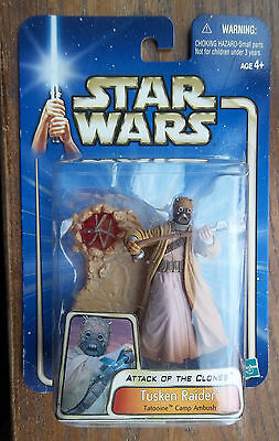 STAR WARS   ATTACK OF THE CLONES TUSKEN RAIDER Tatooine Camp Ambush