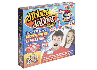 JIBBER JABBER PARTY BOARD GAME SPEAK TALK OUT LOUD 6 x MOUTHPIECES