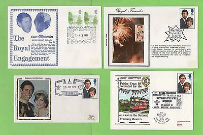 GB Collection of seven Charles & Diana Commemorative Covers