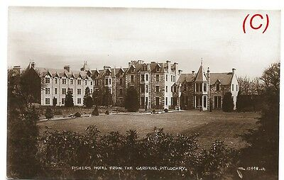 Fishers Hotel from the gardens, Pitlochry, Perthshire - postcard Scotland