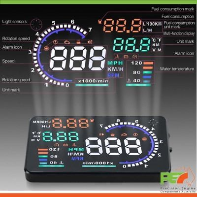 """A8 5.5"""" HeadUp Display OBD2 Windscreen Dashboard Projector For Ford x2 Mustang"""