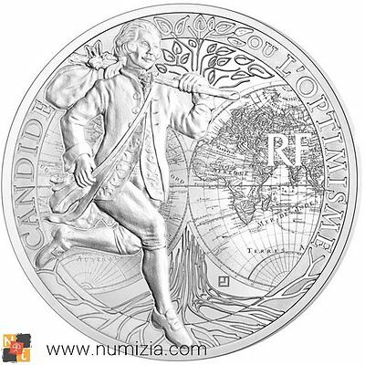 FRANCIA Frankreich 10 Euro Silber 2014 CANDIDE de Voltaire FRANCE (Proof)