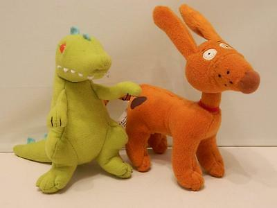 Nickelodeon Rugrats Plush Toys - Reptar & Spike - Christmas Stocking Fillers