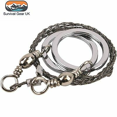 Kombat Steel Wire Saw 55cm Mesh Wire Safety Survival Camping Military Hiking