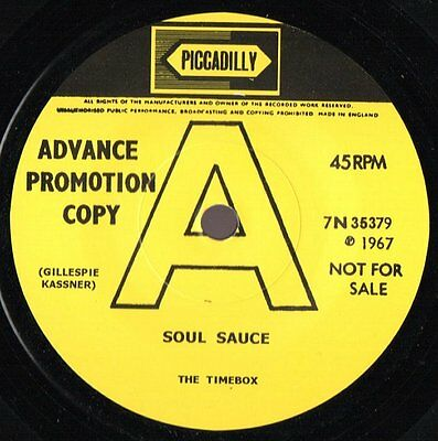 """TIMEBOX - """"Soul Sauce"""" B/W """"Uncle Cyril"""" TWO GREAT MOD INSTROS - HEAR BOTH"""