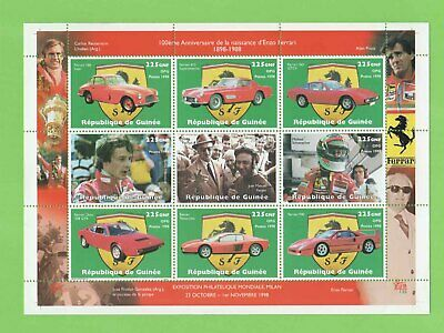 Republic of Guinee 1998 Ferrari Milan Exhibition miniature sheet MNH
