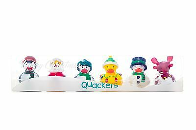 Pack of 6 Christmas Quackers Kids Rubber Ducks Toys Fun Baby Kids Bath Play Time