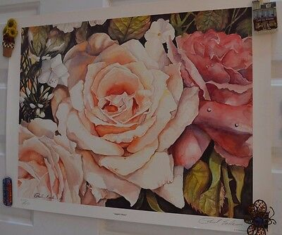 Vintage Angela's Roses Signed Paul Eade 223/1050 Limited Edition Print