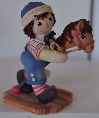 Vintage Raggedy Ann Andy Figure Enesco A Good Companion Makes The Day Brighter