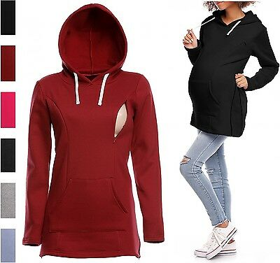 Happy Mama. Women's Maternity Nursing Hoodie Adjustable Zippers Sweatshirt. 356p