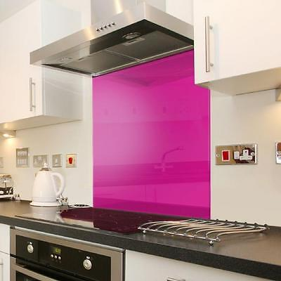 Pink tempered Glass Surface Kitchen Cooker Hob Splashback Wall Guard 100 x 70cm