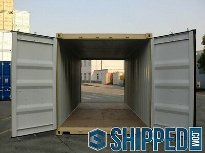 NEW 20FT DOUBLE DOORS Shipping Container *NO RESERVE AUCTION* in TAMPA, FLORIDA