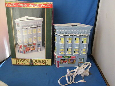 1992 Coca-Cola Town Square Collection Candler's Drugs With Box Retired