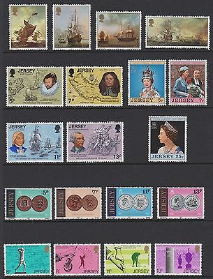 Jersey 1974-78 * UNMOUNTED MINT SETS * inc 1976 set to £2