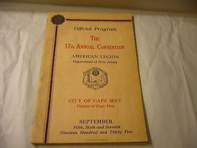 The 17th Annual American Legion Convention 1935 Official Program