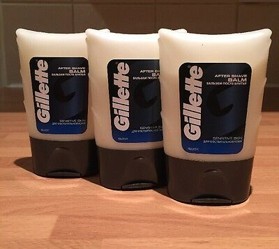 3x Gillette After Shave Balm Sensitive Skin 75ml