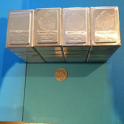 20 X 1 Kg Scottsdale Stackable Silver Bullion Bars .999 Pure, SYDNEY Collection