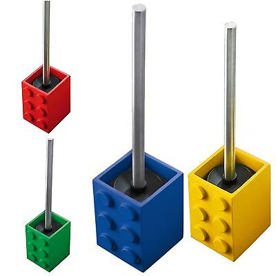 Ridder Toilet Brush Block Holder Bathroom Set Cleaning Standing WC Bin Colourful
