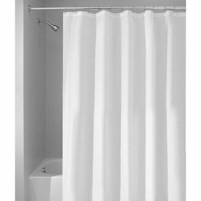 interdesign 96-inch fabric waterproof extra long shower curtain