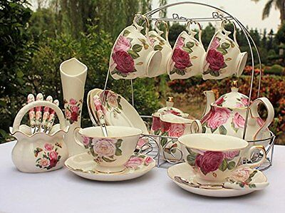 Vintage Tea Cup Set Bone China With Lid And Saucer Butterfly & Floral Design
