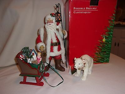Clothtiques Possible Dreams Christmas 1999 Christmas in Air Santa w Box