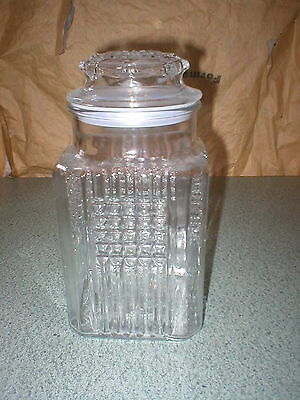 Tall Koezes Apothecary Jar Glass Canister Drugstore Candy Storage Kitchen