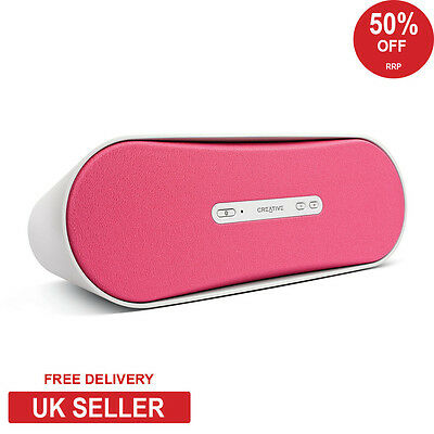 Creative D100 Portable Bluetooth Wireless Speaker with AUX-IN - Pink