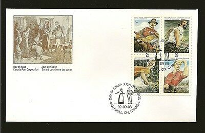 Canada Canadian Folklore 1992 FDC #1432-1435