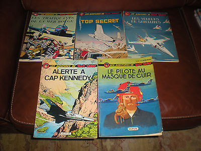 Buck Danny - Lot De 5 Tomes Editions Anciennes Brochees
