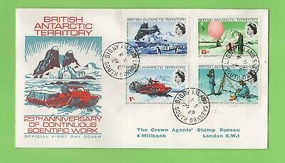 Br Antarctic Territory 1969 Scientific Work Anniv set on Official illustr FDC
