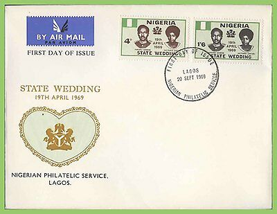 Nigeria 1969 State Wedding set on illustrated First Day Cover