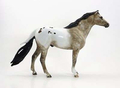 PEACEMAKER - Appaloosa Mustang Limited Edition Model Horse by Sheryl Leisure