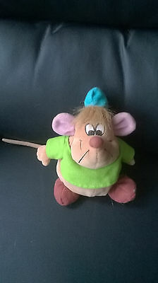 """Disney Mouse Cinderella Beanie Soft Toy Approx 7"""""""