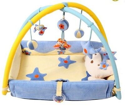 Baby Play Mat Child Musical Gym Activity Soft Floor Kids Hanging Toys Sensory