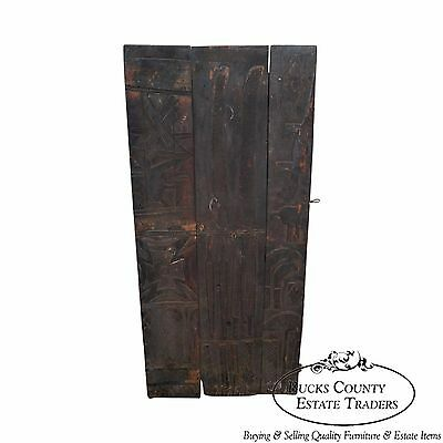 Large Hand Carved Mali Tribal African Dogan Door (C)