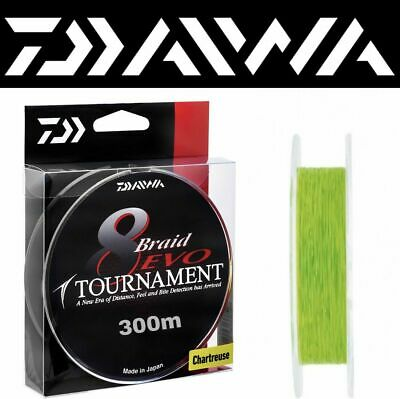 DAIWA TOURNAMENT 8  EVO  BRAIDED LINE CHARTREUSE / 300m